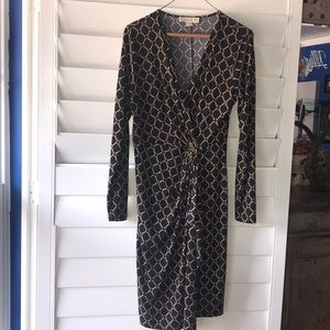 Michael Kors dress long sleeve with gold accents